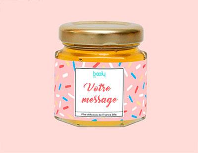 pot de miel avec étiquette personnalisable