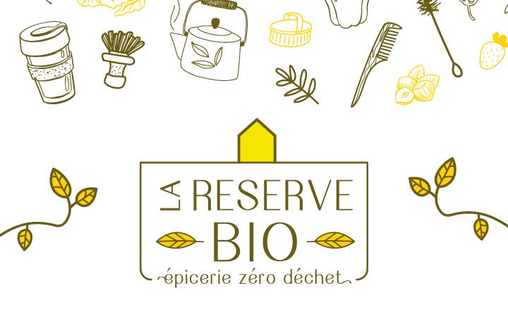 la réserve bio et illustrations zéro déchet