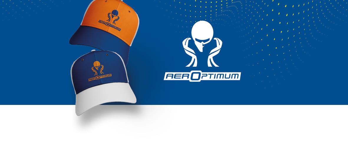 logo sur casquette Aeroptimum